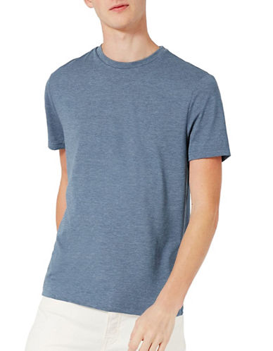 Topman Marl Slim Fit T-Shirt-LIGHT BLUE-Small