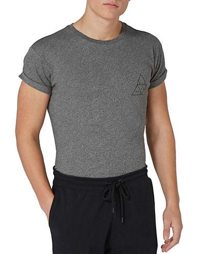 Topman Printed Muscle T-Shirt-GREY-Medium 89850866_GREY_Medium