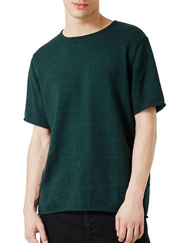 Topman Twist Oversized Knitted T-Shirt-BLUE-Small 89189235_BLUE_Small