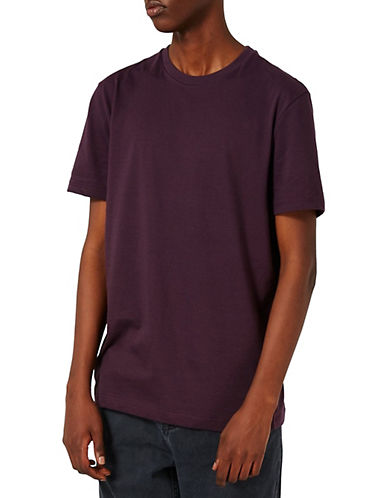Topman Slim Fit Crew Neck T-Shirt-PURPLE-X-Small