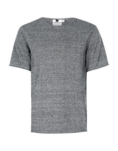 Topman Oversized Knitted T-Shirt-BLACK-X-Small 89189241_BLACK_X-Small