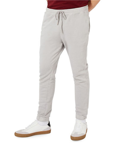 Topman Washed Joggers-GREY-Large