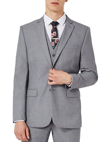 Topman Slim Fit Sports Jacket-LIGHT GREY-36