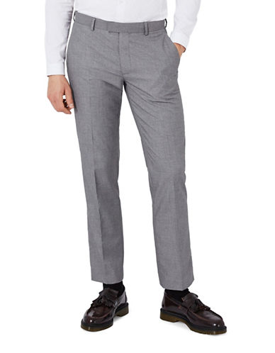 Topman Slim Fit Suit Trousers-LIGHT GREY-32 Short
