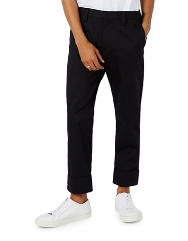 Topman LTD Tivoli Slim Tapered Chinos-BLACK-36