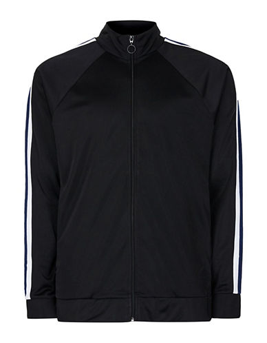 Topman Rudy Panelled Track Jacket-BLACK-Small 89149127_BLACK_Small