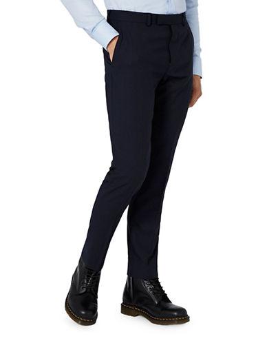 Topman CHARLIE CASELY-HAYFORD Wool Skinny Work Suit Trousers-DARK BLUE-32 Long