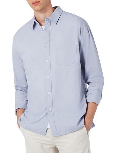 Topman Summer Oxford Sport Shirt-GREY-X-Large