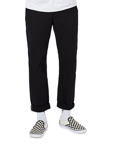Topman Canvas Standard Fit Chinos-BLACK-30