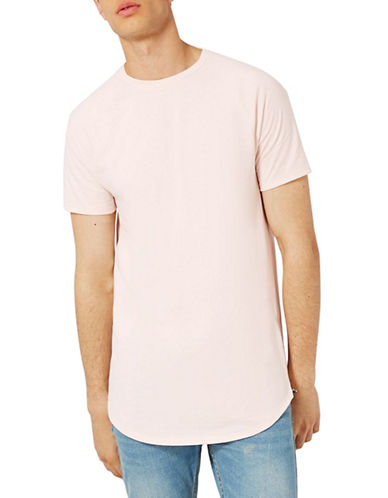 Topman Nathan Zip Longline T-Shirt-OFF WHITE-X-Large