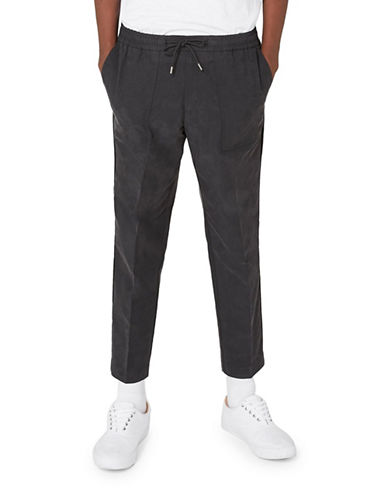 Topman Smart Joggers with Pocket Detail-BLACK-30 Long