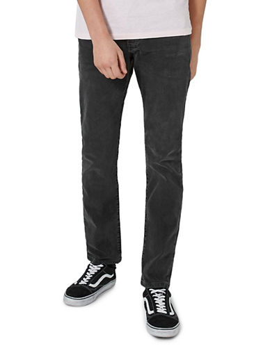 Topman Tyler Stretch Slim Jeans-GREY-32