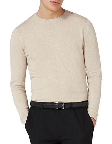 Topman Slim Fit Twist Ribbed Pullover-GREY-X-Small