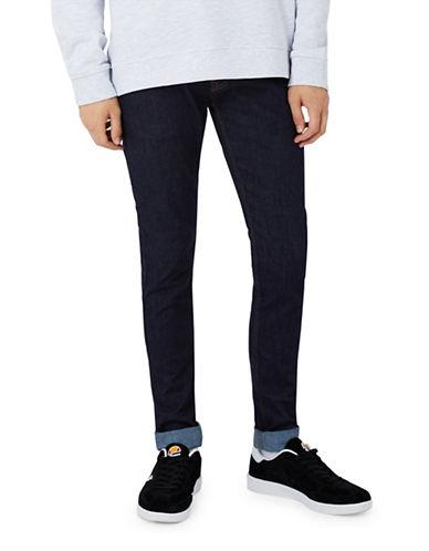 Topman Raw Indigo Stretch Skinny Jeans-BLUE-36