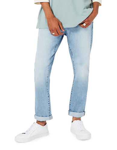 Topman LTD Slim Tapered Jeans-LIGHT BLUE-32 Short