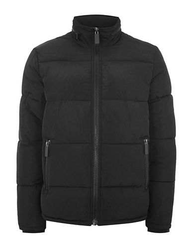 Topman Rex Puffer Jacket-BLACK-X-Large
