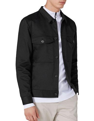 Topman Western Worker Jacket-BLACK-Small