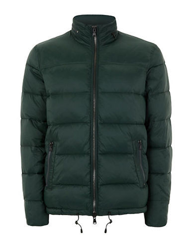 Topman Rex Puffer Jacket-GREEN-Medium
