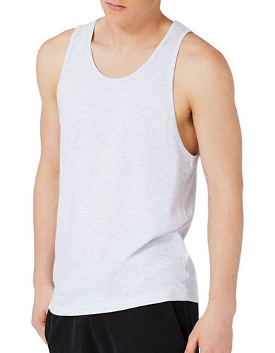 Topman Slim Fit Tank Top-LIGHT GREY-Large