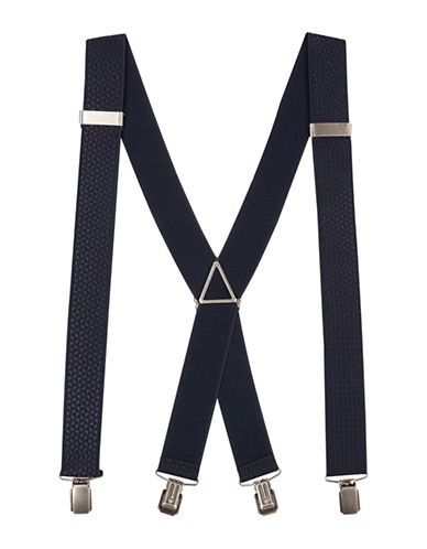Topman Solid Suspenders-DARK BLUE-One Size