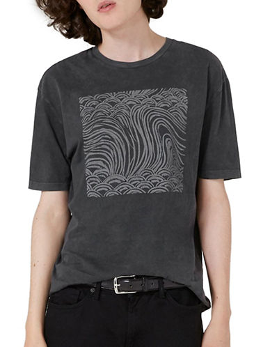 Topman JAMES BAY X TOPMAN Waves T-Shirt-BLACK-X-Large