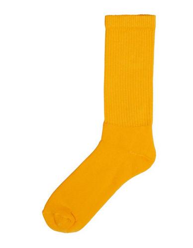 Topman Mens Solid Plain Tube Socks-YELLOW-One Size