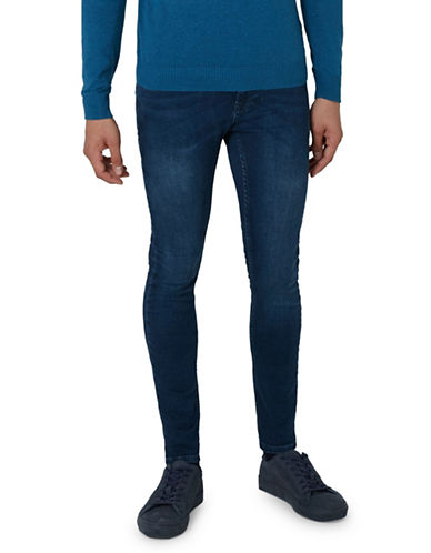 Topman Cole Spray-On Jeans-BLUE-34
