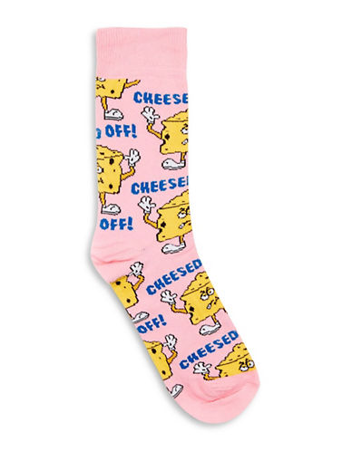 Topman Cheesed Off Socks-PINK-One Size