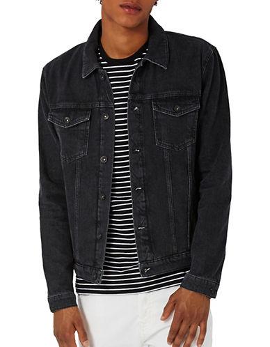 Topman Denim Jacket-BLACK-X-Small 89303123_BLACK_X-Small