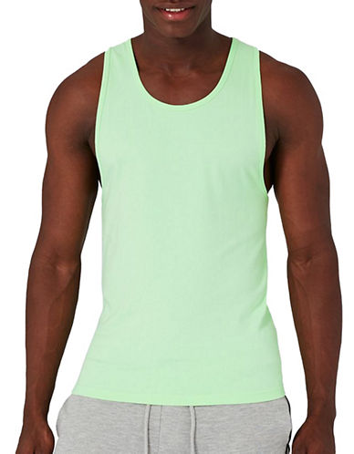Topman Ultra Muscle Fit Tank Top-LIGHT GREEN-X-Large