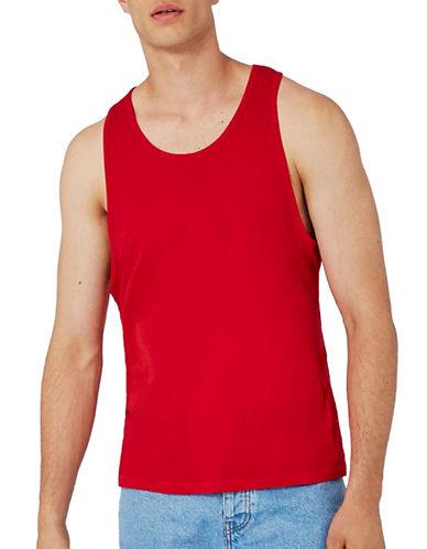 Topman Slim Fit Tank Top-RED-X-Large