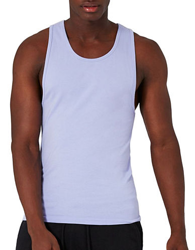 Topman Muscle Fit Tank Top-PURPLE-X-Small