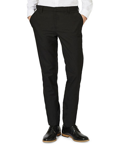 Topman Skinny Fit Smart Trousers-BLACK-28