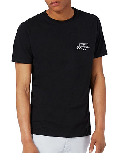Topman Decades Print T-Shirt-BLACK-X-Large