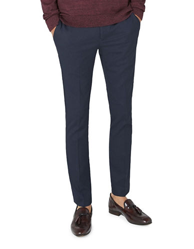 Topman Ultra Skinny Smart Trousers-NAVY-34 Long