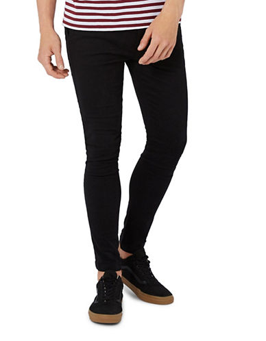 Topman Spray-On Chinos-BLACK-30 Short