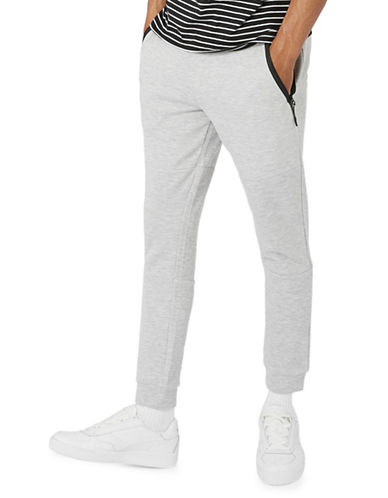Topman Tech Skinny Joggers-GREY-Small