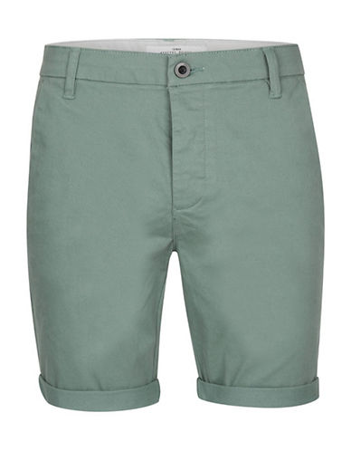 Topman Owen Stretch Skinny Chino Shorts-BEIGE-32
