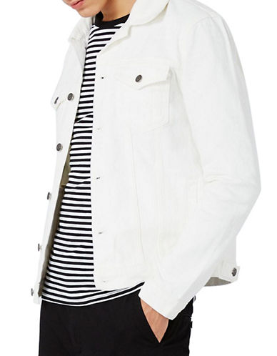 Topman Denim Jacket-WHITE-Medium