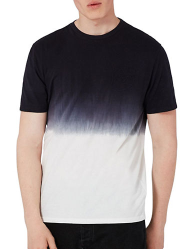 Topman Ombre T-Shirt-BLUE-Small