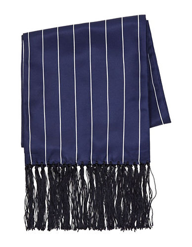 Topman Pinstripe Dress Scarf-DARK BLUE-One Size