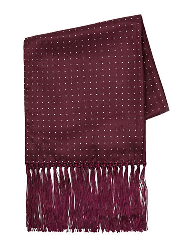 Topman Polka Dot Dress Scarf-BURGUNDY-One Size