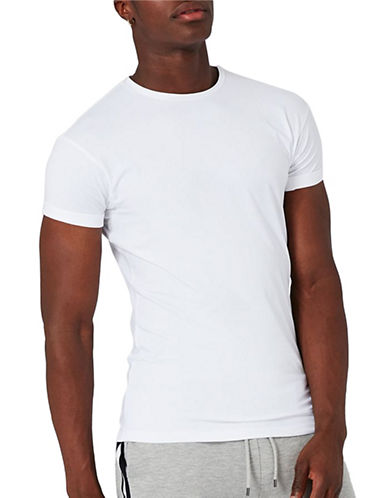 Topman Ultra Muscle Fit Roller T-Shirt-WHITE-Medium