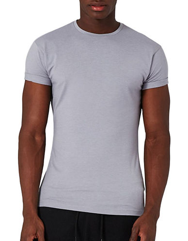 Topman Ultra Muscle T-Shirt-LIGHT GREY-Medium