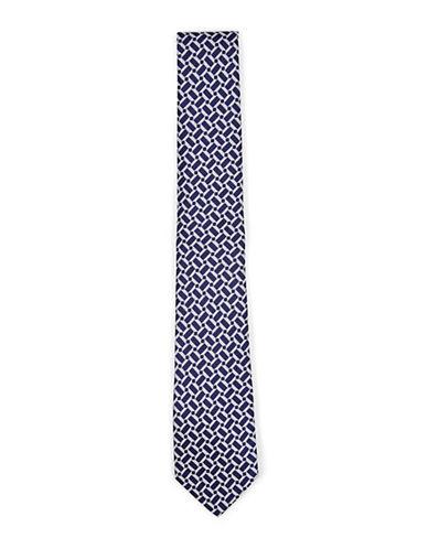 Topman Blue Geometric Tie-BLUE-One Size