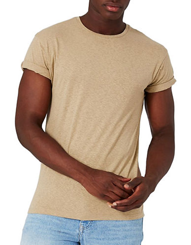 Topman Muscle Fit T-Shirt-LIGHT BROWN-X-Large