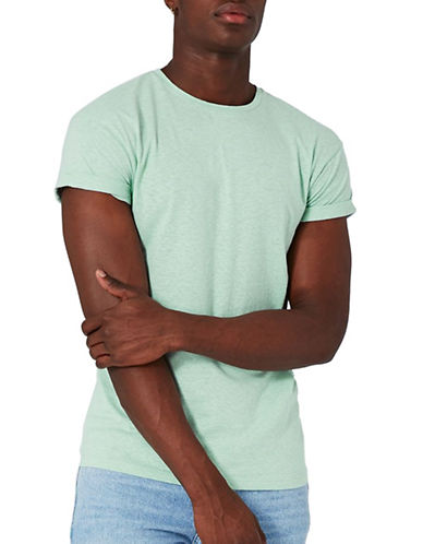 Topman Muscle Fit T-Shirt-GREEN-X-Large