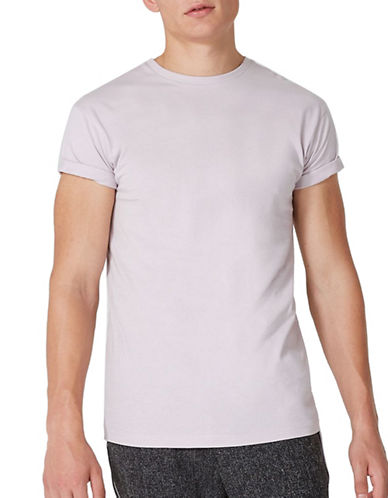 Topman Muscle Roller T-Shirt-PURPLE-X-Small