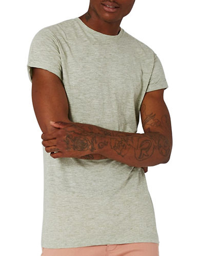 Topman Muscle Fit T-Shirt-GREEN-Medium