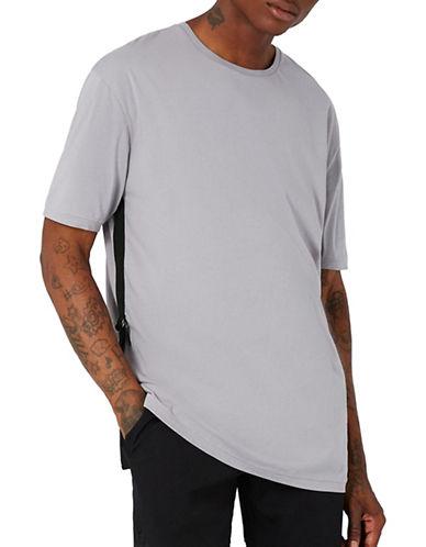 Topman AAA Longline Taping T-Shirt-PURPLE-X-Large